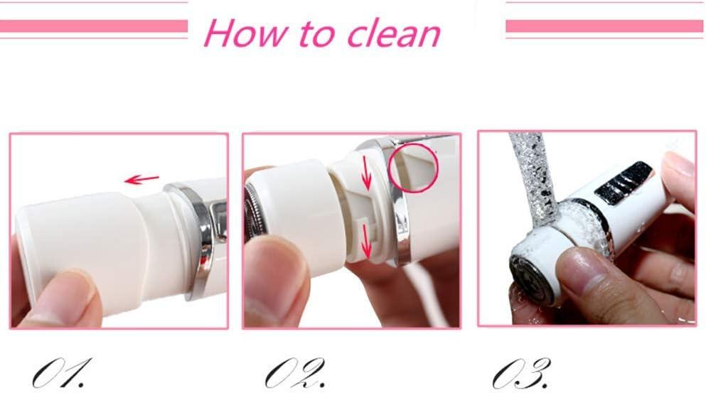 Indoloro eléctrico navaja depilación facial para mujer afeitadora ...