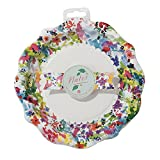 Talking Tables Floral Fiesta Large Colorful Paper Plates for a Tea Party, Birthday or Luau Party, Multicolor (24 Pack)