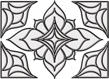 """Brewster 93808 Brewster Stained Glass """"Alden"""", 10.5-inch By 7.5-inch, Clear 0"""