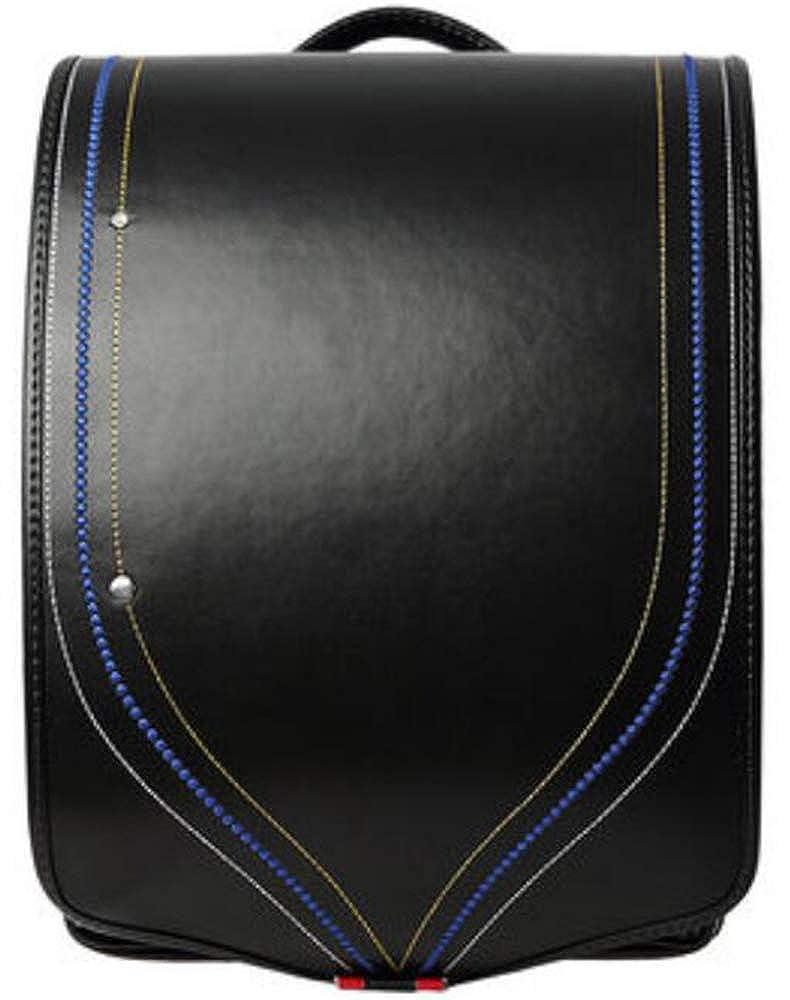 (Bidasu)2色 ランドセル 高級合皮 a4フラットファイル対応 ランドセル 女の子 パープル ライトブルー 超軽量 撥水加工 ワンタッチロック 新学期お祝い 小学生通学鞄 6年間保証 S38  ブラック B07MRFVDJX