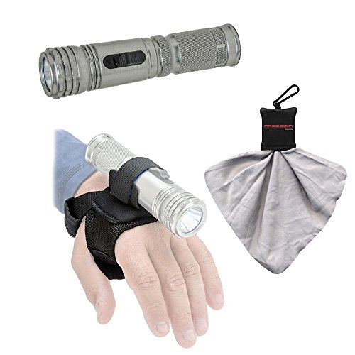 Tovatec LED Compact II Waterproof Torch Flashlight / Video Light with Torch Handstrap + Spudz Cleaning Cloth (Intova Torch)