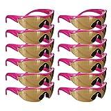 Safety Girl Navigator Safety Glasses Pink Frame - 12 Pack (Amber)