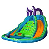 Cloud 9 Bounce House With Climbing Wall, Water Slide And Pool With Blower