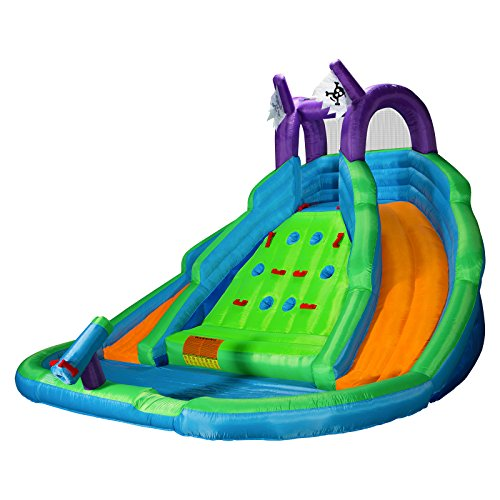Cloud 9 Bounce House with Climbing Wall, Water Slide and Poo