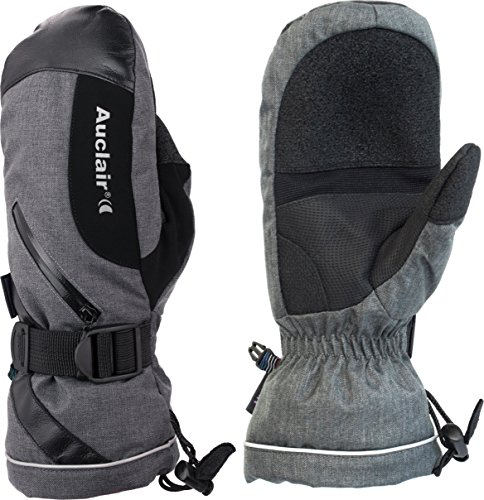 Auclair Women's Snowmass Waterproof Winter Mittens: Small, Charcoal Wool