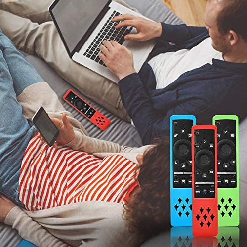 3 Pack Silicone Protective Case Cover for Samsung BN59-01312A Smart TV Remote Control, Glowing TV Remote Cover Shockproof Anti Slip Case Holder Curved Samsung Remote Battery Back Skin Sleeve Protector