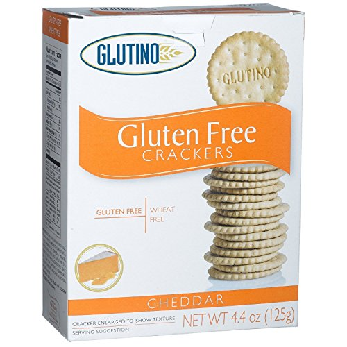 Glutino Free Crackers Gluten (Glutino Cheddar Cracker, 125 gram - Pack of 6)