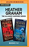 heather graham the alliance vampires series books 1 2 beneath a blood red moon when darkness falls