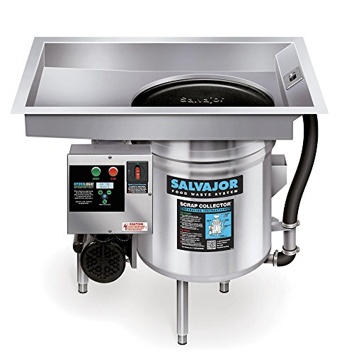 Salvajor P914 Pot & Pan Scrap Collector for Scrapping, Pre-Flushing & Collection System, Food Waste Collector by Salvajor