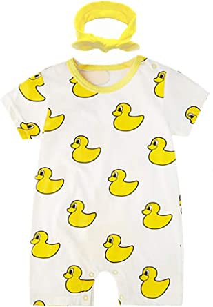 Infant Baby Boys Bodysuit Short-Sleeve Onesie Free Hugs Print Jumpsuit Summer Pajamas