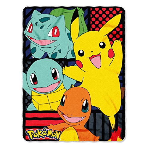 The Northwest Company Pokémon First Partners Fleece Throw Blanket, 45 x 60-inches -