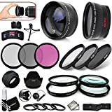 ULTIMATE 67mm Lens and Filters KIT including: 67/72mm Wide Angle Lens + 67/72mm 2x Telephoto Lens w/ Step-Up Ring to 72mm + 67mm Close-up Macro Filters + 67mm HD filters + 67mm ND Filters + MORE