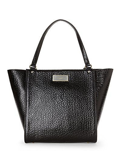 Dkny Womens Shopper - DKNY French Grain Leather Medium Shopper, Black