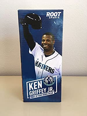 9abbb67cc8 Amazon.com : Ken Griffey Jr. Root Sports Bobblehead Doll 2013 Mariners Hall  of Fame : Other Products : Everything Else