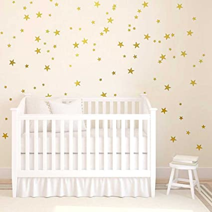 Amazon.com: H2MTOOL Star Wall Decals, 130 PCS Gold Removable Wall ...