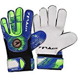 Luva Goleiro Poker Campo Training Top Kids Azul/verde Infantil