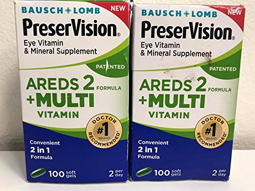Bausch Lomb PreserVision Eye Areds 2 – 100 Soft Gels 2 BOXES