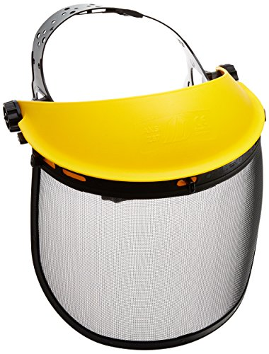 Neiko 53876A Protective Face Shield, Steel Mesh & Clear Polycarbonate Visor | Great For Outdoor Work & Operations