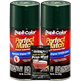 Dupli-Color Dark Green Mica Exact-Match Automotive Paint for Toyota Vehicles - 8 oz, Bundles Prep Wipe (3 Items)