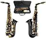 Merano E Flat Black Alto Saxophone with Zippered Hard Case + Mouth Piece,Screw Driver, nipper. A pair of gloves, Soft Cleaning Cloth