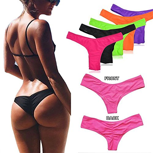 78341f5546d Kiwi-Rata 2017 New Womens Swimwear Sexy Sweet Heart Brazilian Bikini Bottom  Hipster Swimsuit Beachwear Swimwear