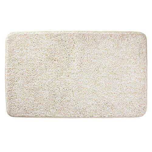 (mDesign Soft Microfiber Polyester Non-Slip Rectangular Spa Mat, Plush Water Absorbent Accent Rug for Bathroom Vanity, Bathtub/Shower, Machine Washable - 34