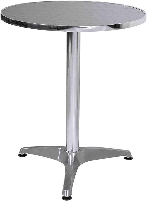 Premier Housewares - Mesa Redonda de Aluminio, 60 x 60 x 70 cm ...