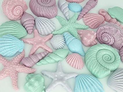 Decorazioni Per Casa Al Mare : Conchiglie commestibili decorazioni marittime per cupcake torte