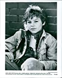 Vintage photo of Close up of Jason James Richter on the poster of the movie,'Free Willy'.