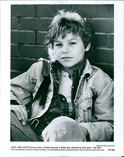 Vintage photo of Close up of Jason James Richter on the poster of the movie,