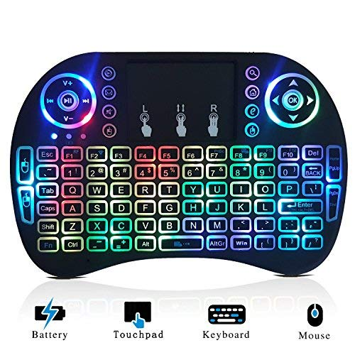 Mini Wireless Keyboard with Backlit - 2.4GHz QWERTY for sale  Delivered anywhere in USA