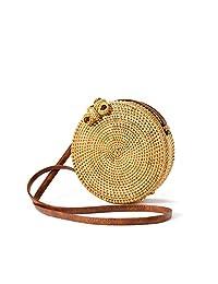Bolsa de bambú hecha a mano Bolsos para mujer para la playa de verano