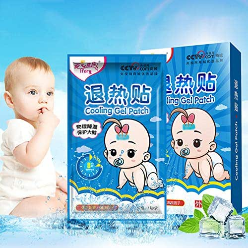 YTGOOD Cooling Patch,Fever Headache Forehead Cooling Sticker,Headache Patches,Mini Antipyretic Stickers Baby Children Adult Fast Antipyretic Stickers 10 Pcs