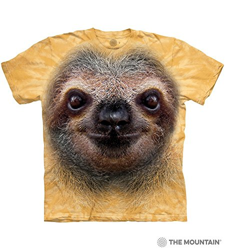 Tuff America Sloth FACE Medium Cotton Sloths T-Shirt Beeswax Adult Men's Women's Short Sleeve T-Shirt