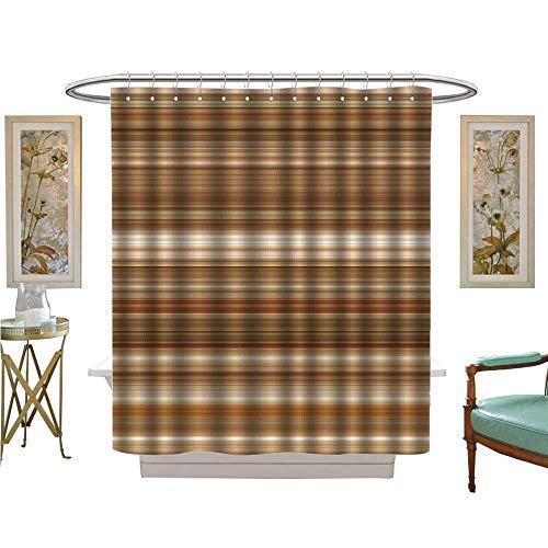 luvoluxhome Shower Curtains 3D Digital Printing Digital Tiles Design Wallpaper Design Bathroom Set with Hooks W48 x L72