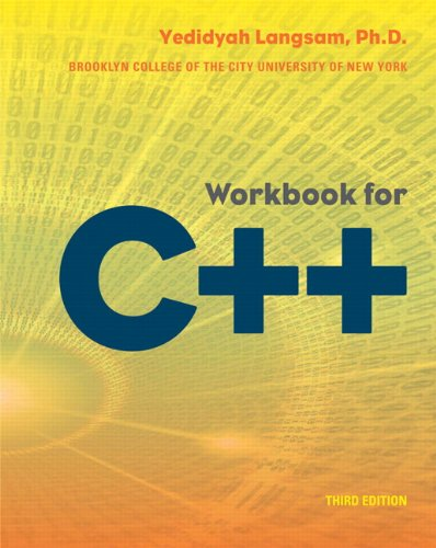 Workbook for C++ (3rd Edition)