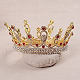 Generic 2018 crown tiara European luxury retro bride bridal headdress large circle crown tiara queen wedding dress