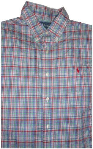 Polo By Ralph Lauren Men's Long Sleeve Shirt Blue Plaid (XL)