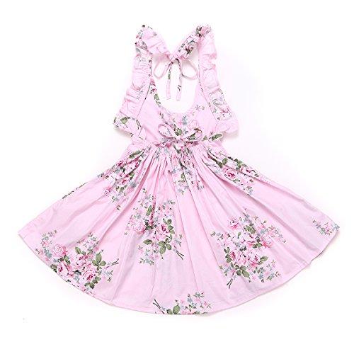 31595f993fd Flofallzique Vintage Baby Girls Dress Girls Clothes Vintage Summer Backless  Party Pink Toddler Dress
