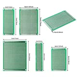 DEYUE 40PCs PCB Double-sided Prototyping PCBs Circuit Boards Kit | 5 Size Universal untraced perforated printed circuits boards | Solder-able Circuit Protoboards for DIY Soldering Electronic Projects