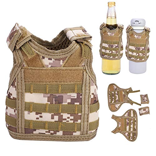 Sports & Entertainment Beer Vest Mini Tactic Military Vest For Beer Bottle Miniature Wine Bottle Cover Vest Beverage Cooler Camping Hiking Accessories Volume Large Hiking Clothings