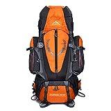 Cheap 80 L + 5 L Internal Frame Backpack Outdoor Waterproof Backpack Climbing Fishing Rucksack Hiking Daypack Camping Outdoor Trekking Mountaineering Bag ( Orange )