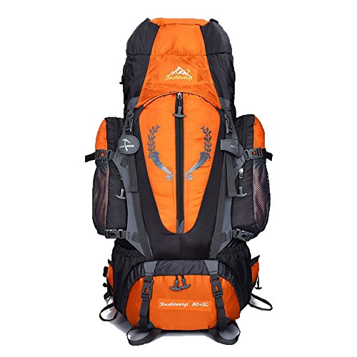 Gohyo 80 L + 5 L Internal Frame Backpack Outdoor Waterproof Backpack Climbing Fishing Rucksack Hiking Daypack Camping Outdoor Trekking Mountaineering Bag