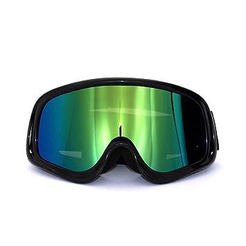 WDAKOWA Off-Road Motorrad Brille Bergsteigen Sport Skifahren Brille,Green-2