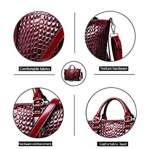 Tisdaini affari del di borsa Rosso del coccodrillo di modello spalla delle signore della del della del Borsa borse modo messaggero delle sacchetto IqZwIPr