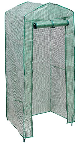 NKTM 4-Tier Mini Greenhouse Replacement Cover,Outdoor Compact Walk-in Greenhouse (FRAM NOT INCLUDE)