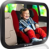 COZY GREENS Baby Car Mirror | Most Stable | View Infant in Rear Facing Seat | 100% Lifetime Satisfaction Guarantee | Shatterproof & Crash Tested | Best Newborn Safety| Backseat Mirror for Back Seat