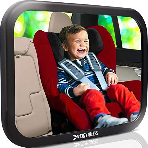 COZY GREENS Baby Car Mirror | Most Stable | View Infant in Rear Facing Seat | 100% Lifetime Satisfaction Guarantee | Shatterproof & Crash Tested | Best Newborn Safety| Backseat Mirror for Back Seat from COZY GREENS