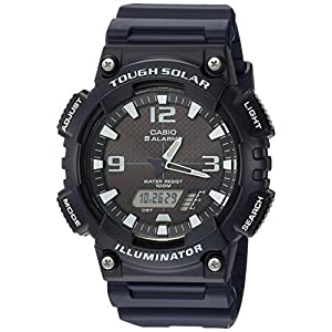51MWHadJDvL. SS300  - Casio Men's AQ-S810W-2A2VCF Tough Solar Analog-Digital Display Dark Blue Watch