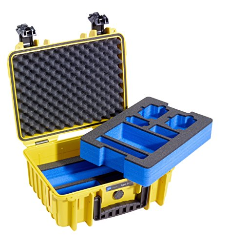 B&W outdoor.cases Type 3000 2 Layer Outdoor Case With Foam Insert For Gopro Hero 3/Hero 4 And Accessories